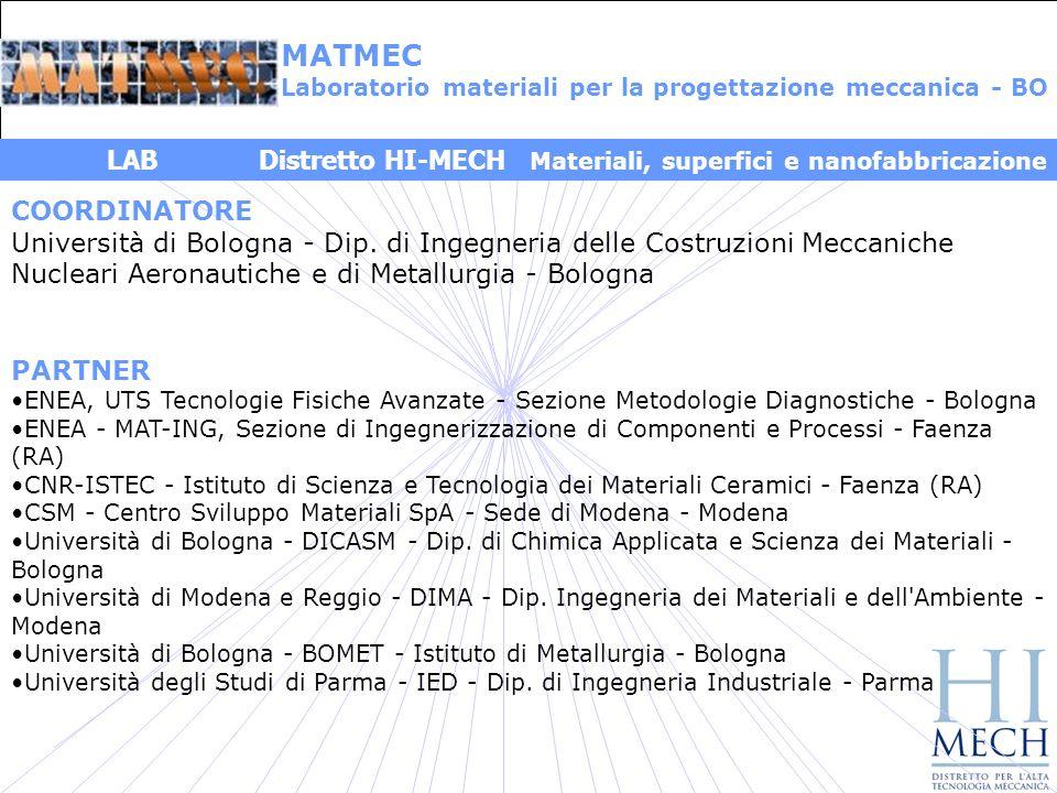COORDINATORE Università di Bologna - Dip.