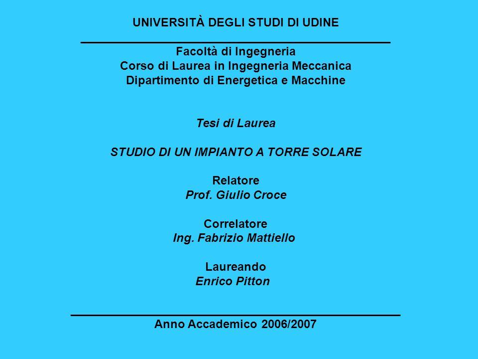 UNIVERSITÀ DEGLI STUDI DI UDINE _______________________________________________ Facoltà di Ingegneria Corso di Laurea in Ingegneria Meccanica Dipartim