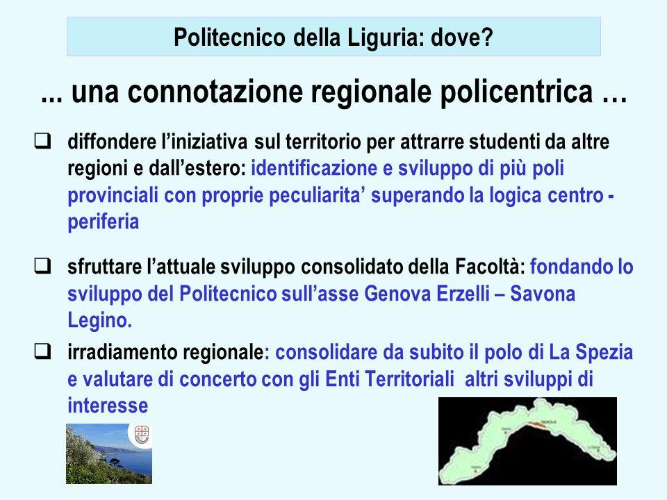 11... una connotazione regionale policentrica … diffondere liniziativa sul territorio per attrarre studenti da altre regioni e dallestero: identificaz