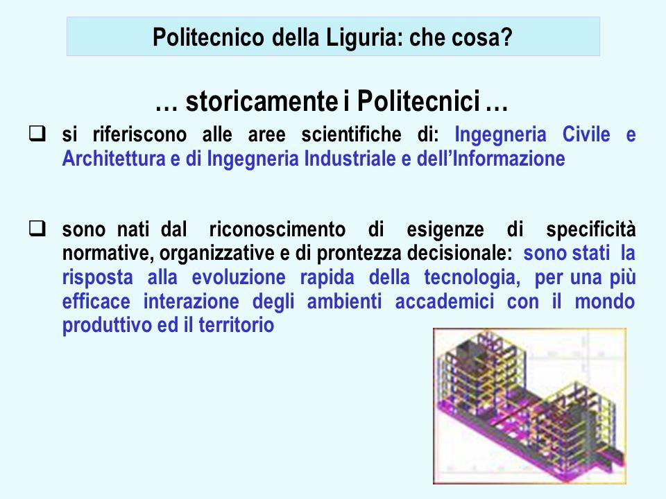 8 … storicamente i Politecnici … si riferiscono alle aree scientifiche di: Ingegneria Civile e Architettura e di Ingegneria Industriale e dellInformaz