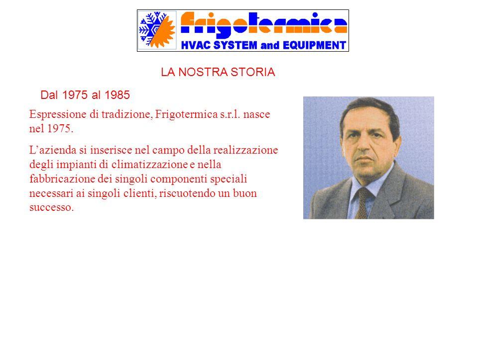 Espressione di tradizione, Frigotermica s.r.l. nasce nel 1975. Lazienda si inserisce nel campo della realizzazione degli impianti di climatizzazione e