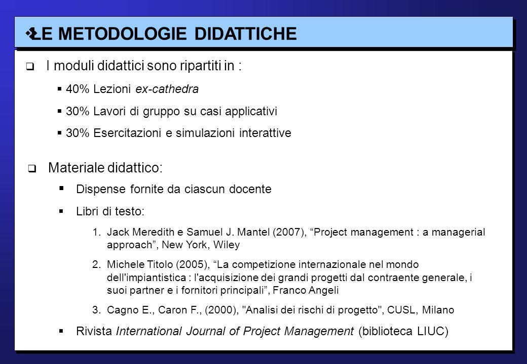 LA FACULTY Corso 3 - Project Risk Management: Prof.