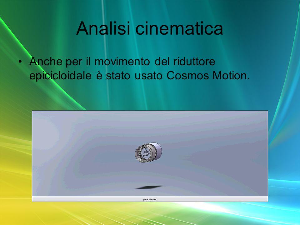 Anche per il movimento del riduttore epicicloidale è stato usato Cosmos Motion.