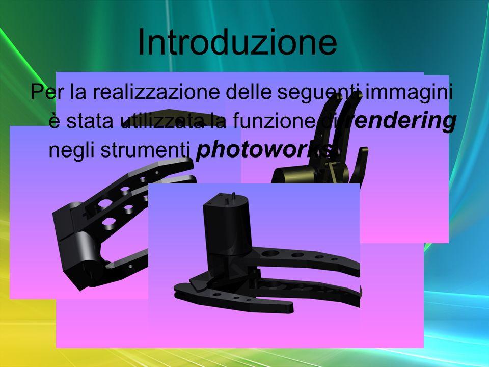 Introduzione Per la realizzazione delle seguenti immagini è stata utilizzata la funzione di rendering negli strumenti photoworks