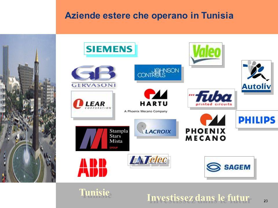 23 Tunisie Investissez dans le futur 23 Aziende estere che operano in Tunisia