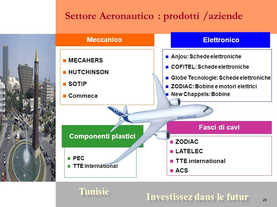 29 Tunisie Investissez dans le futur 29 ZODIAC LATELEC TTE international ACS PEC TTE International Meccanico Componenti plastici Elettronico Fasci di