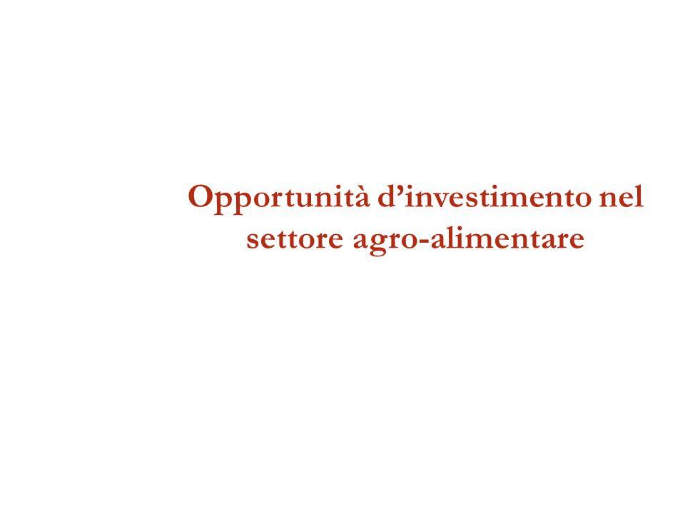 Opportunità dinvestimento nel settore agro-alimentare