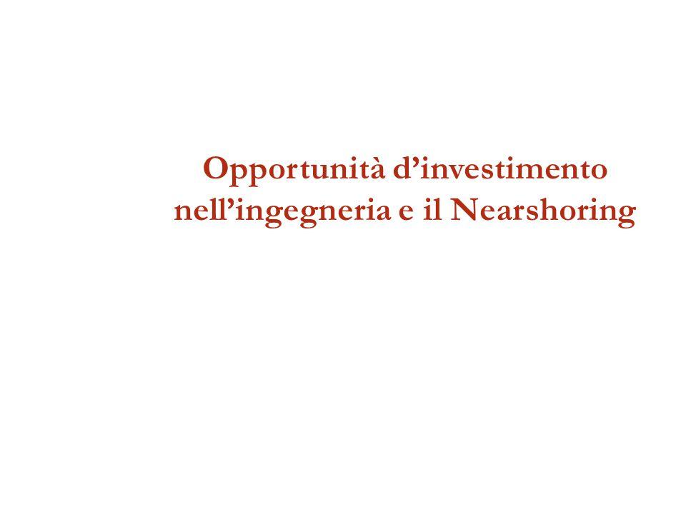 Opportunità dinvestimento nellingegneria e il Nearshoring