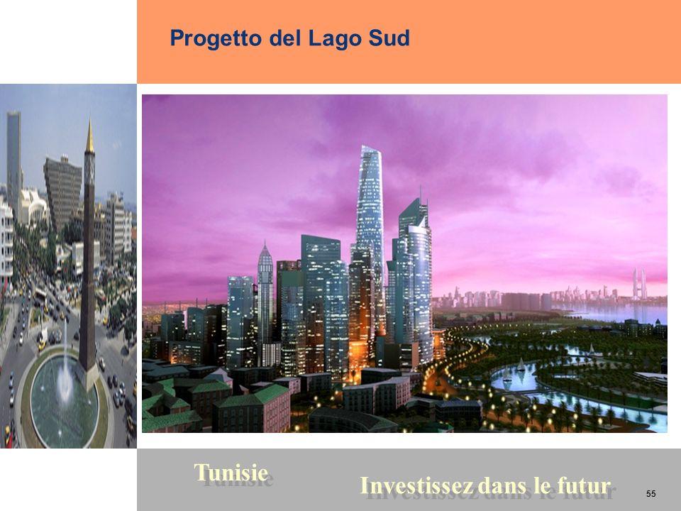 55 Tunisie Investissez dans le futur 55 Progetto del Lago Sud