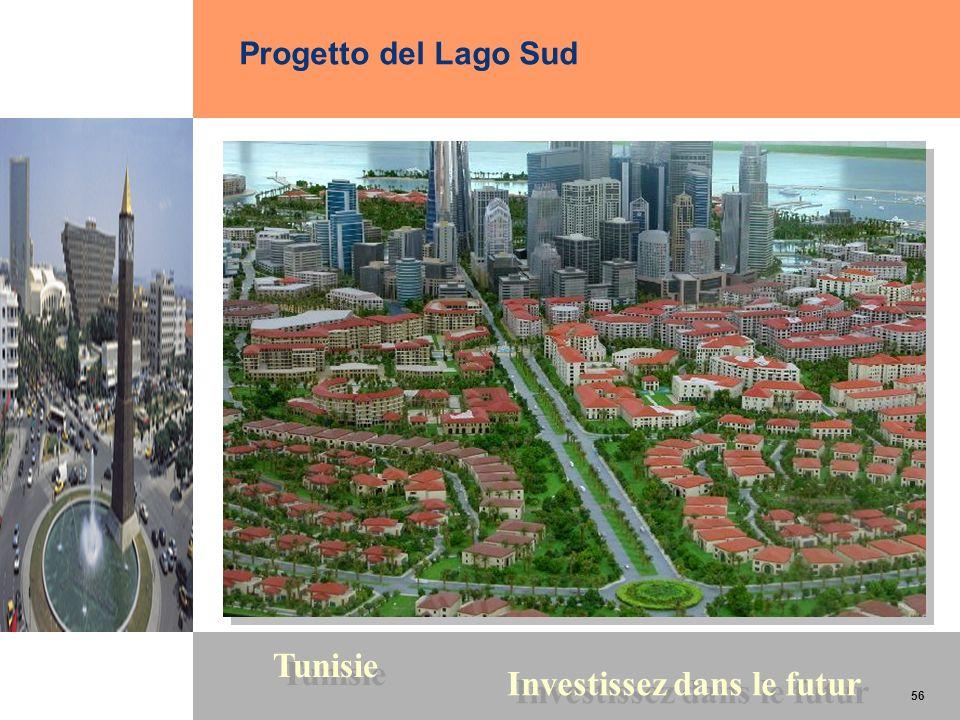 56 Tunisie Investissez dans le futur 56 Progetto del Lago Sud