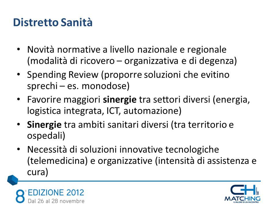 Novità normative a livello nazionale e regionale (modalità di ricovero – organizzativa e di degenza) Spending Review (proporre soluzioni che evitino s