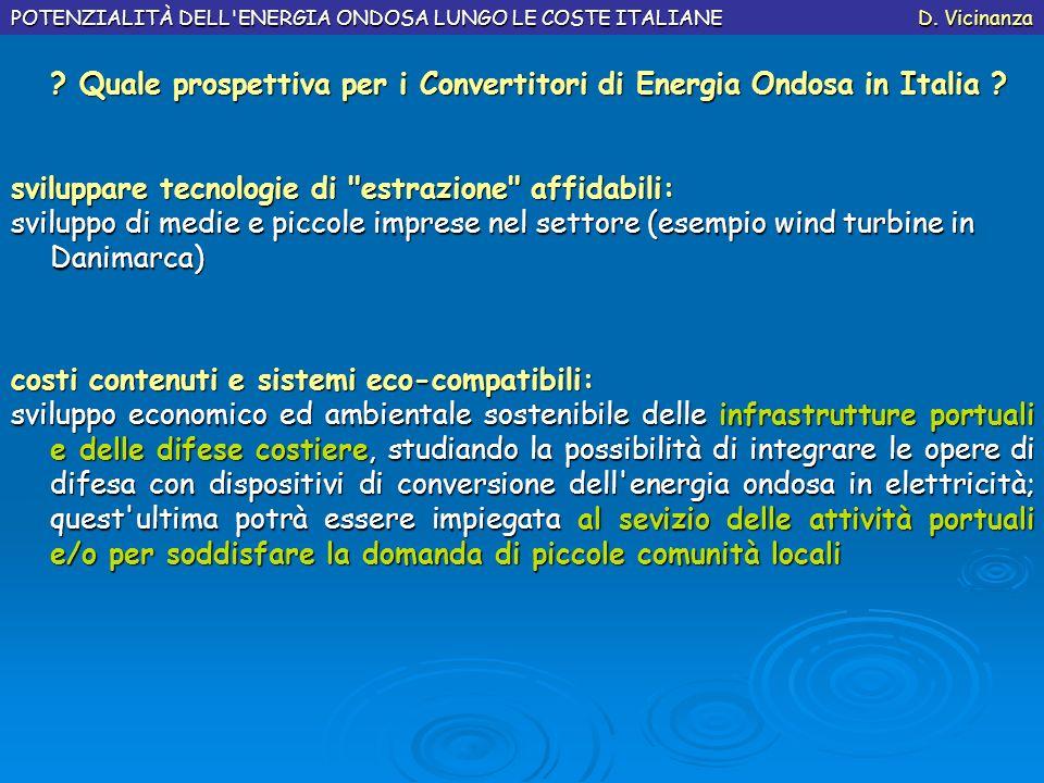 ? Quale prospettiva per i Convertitori di Energia Ondosa in Italia ? ? Quale prospettiva per i Convertitori di Energia Ondosa in Italia ? sviluppare t