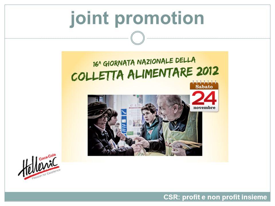 joint promotion CSR: profit e non profit insieme