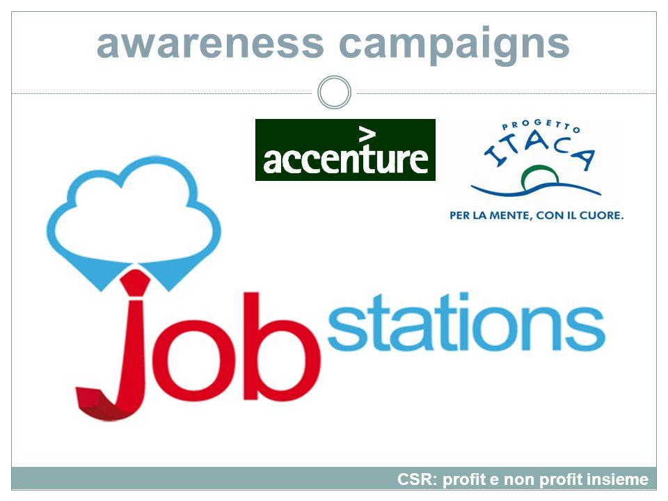 awareness campaigns CSR: profit e non profit insieme