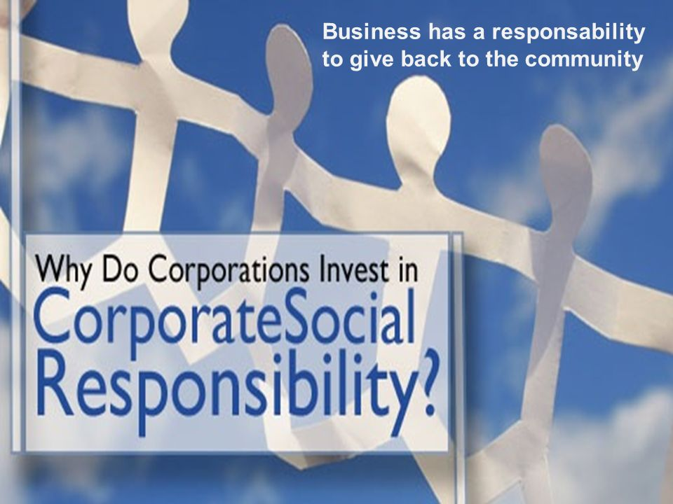 different reasons CSR: profit e non profit insieme Profit: -reputation; -better relationship with the local community; -differentiate its image.