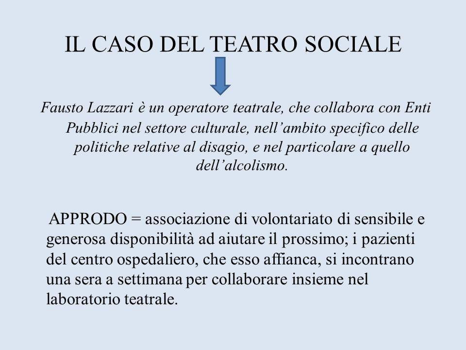 IL CASO DEL TEATRO SOCIALE Fausto Lazzari è un operatore teatrale, che collabora con Enti Pubblici nel settore culturale, nellambito specifico delle p
