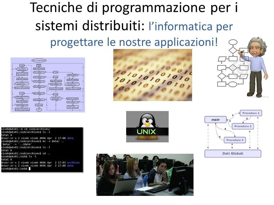 Tecniche di programmazione per i sistemi distribuiti: linformatica per progettare le nostre applicazioni!