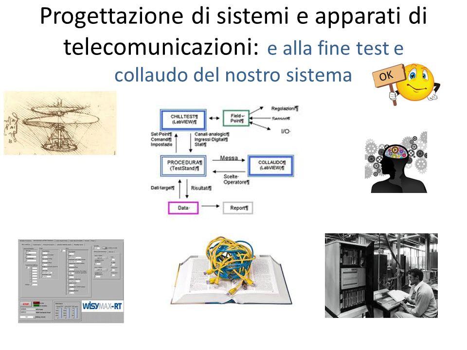 Progettazione di sistemi e apparati di telecomunicazioni: e alla fine test e collaudo del nostro sistema OK