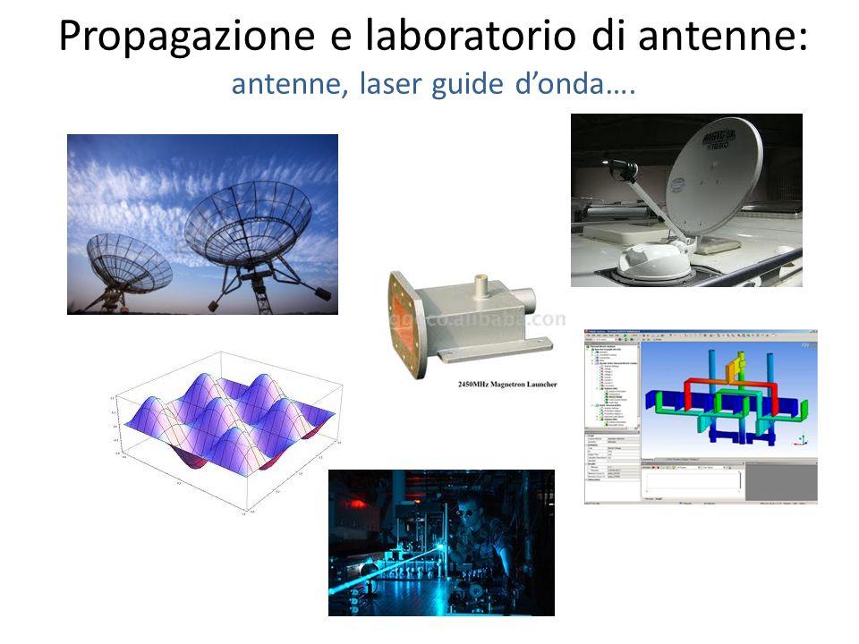 Propagazione e laboratorio di antenne: antenne, laser guide donda….