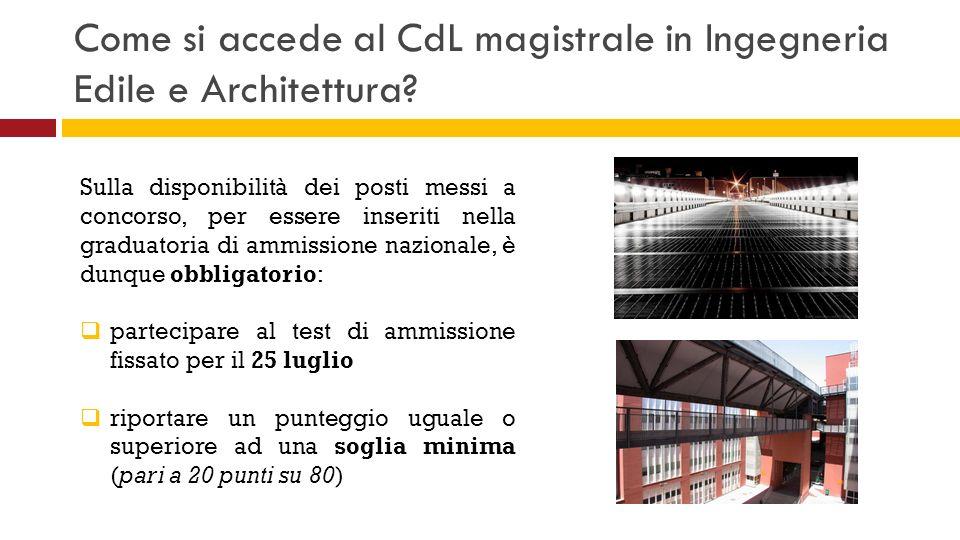 Come si accede al CdL magistrale in Ingegneria Edile e Architettura? Sulla disponibilità dei posti messi a concorso, per essere inseriti nella graduat