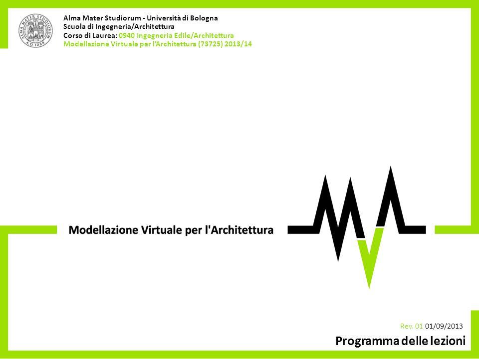 (1020) 2010/11 _ introduzione rev01 05/10/2010 Alma Mater Studiorum - Università di Bologna Scuola di Ingegneria/Architettura Corso di Laurea: 0940 In