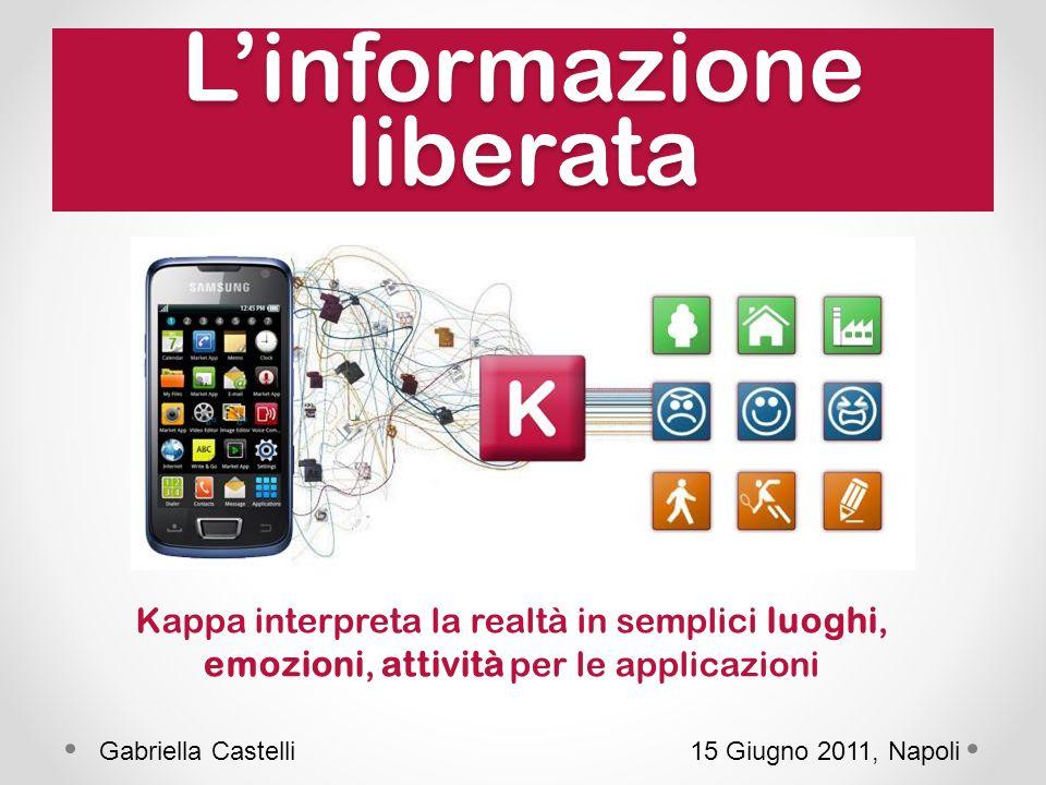 Linformazione liberata 15 Giugno 2011, NapoliGabriella Castelli Kappa interpreta la realtà in semplici luoghi, emozioni, attività per le applicazioni