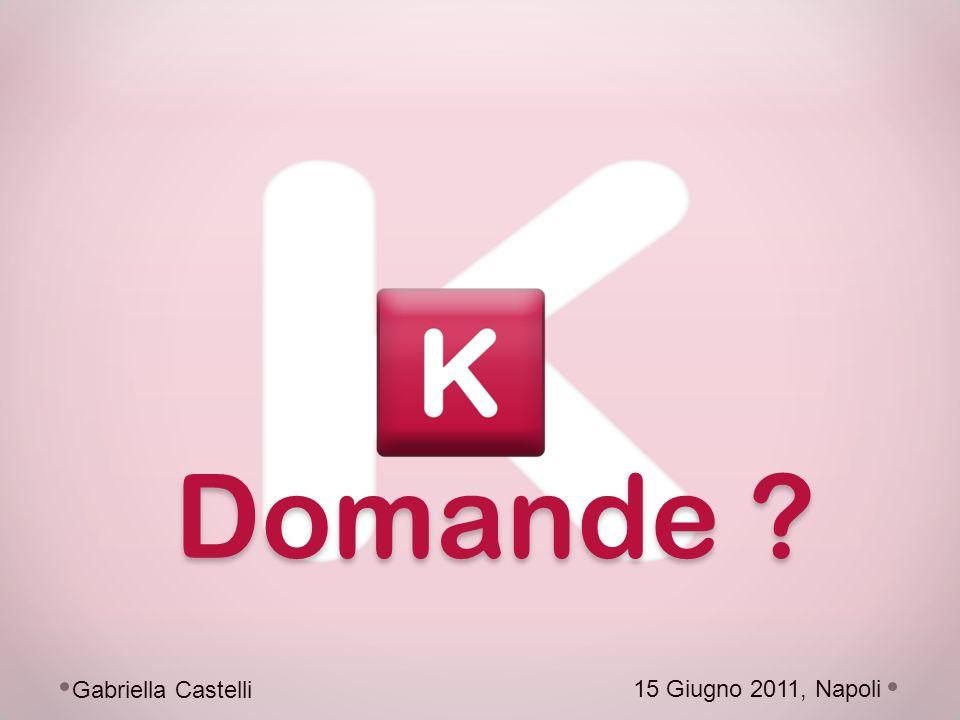 15 Giugno 2011, Napoli Gabriella Castelli Domande