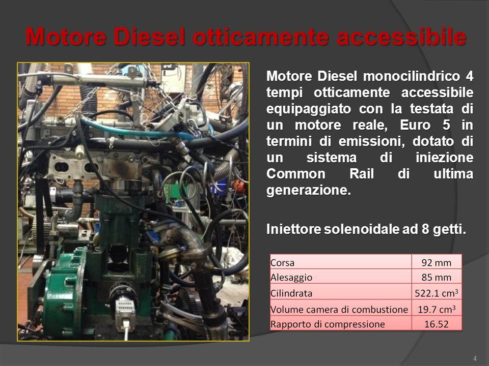Motore Diesel otticamente accessibile 4 Motore Diesel monocilindrico 4 tempi otticamente accessibile equipaggiato con la testata di un motore reale, E