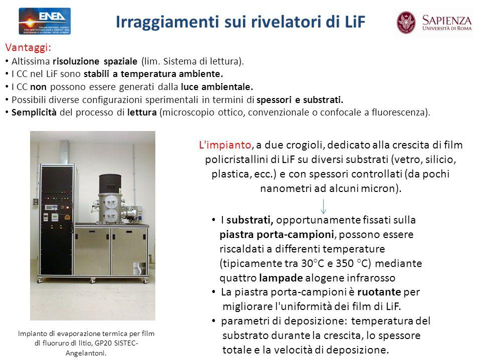 Impianto di evaporazione termica per film di fluoruro di litio, GP20 SISTEC- Angelantoni.