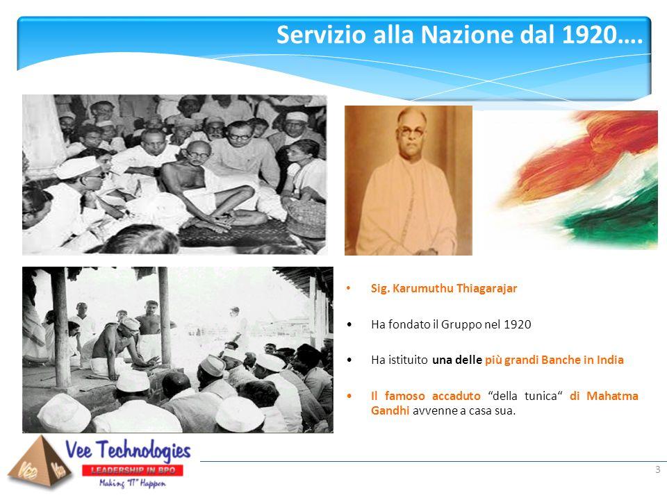 Presented by: Servizio alla Nazione dal 1920…. 3 Sig. Karumuthu Thiagarajar Ha fondato il Gruppo nel 1920 Ha istituito una delle più grandi Banche in