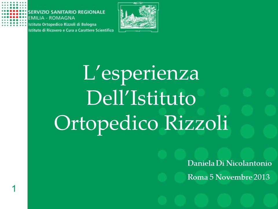 1 Lesperienza DellIstituto Ortopedico Rizzoli Daniela Di Nicolantonio Roma 5 Novembre 2013