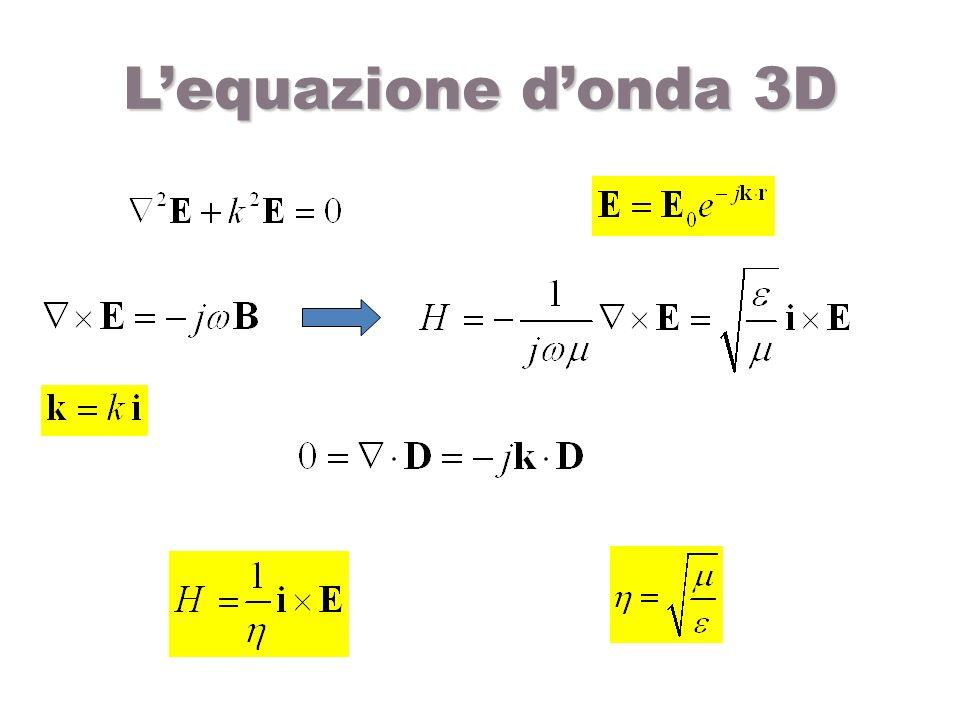 Lequazione donda 3D