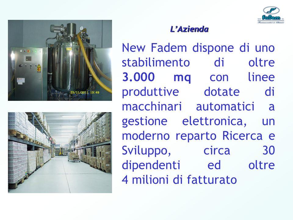 New Fadem dispone di uno stabilimento di oltre 3.000 mq con linee produttive dotate di macchinari automatici a gestione elettronica, un moderno repart