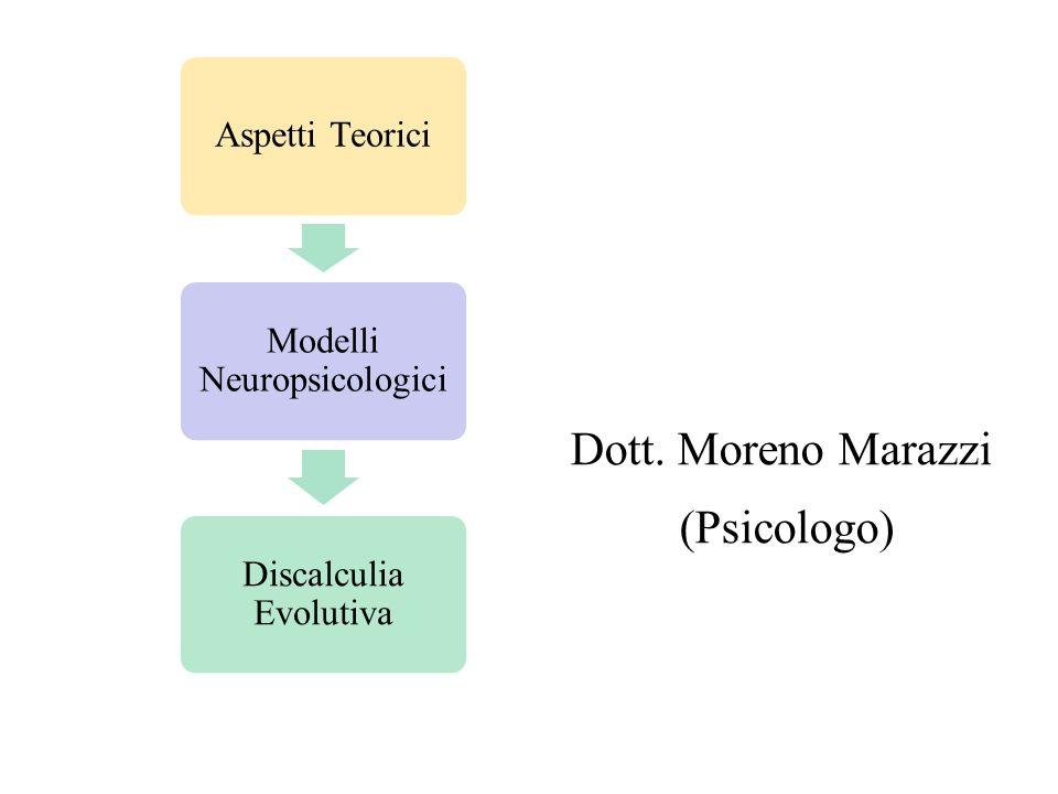 F.A. R.E. C E N TR T R Dott. Moreno Marazzi (Psicologo) Aspetti Teorici Modelli Neuropsicologici Discalculia Evolutiva