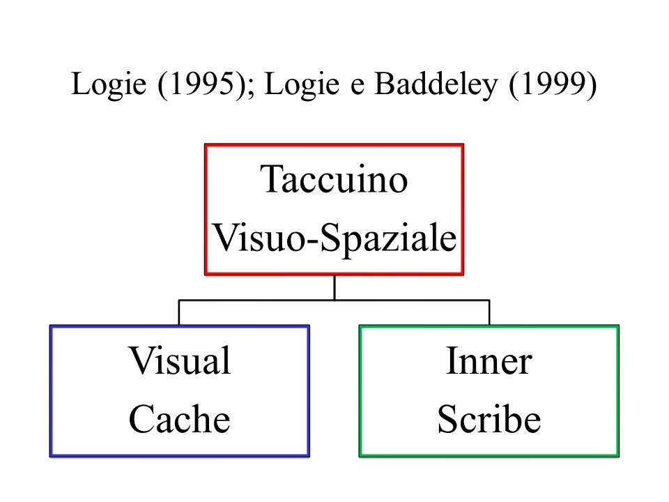 Logie (1995); Logie e Baddeley (1999) Taccuino Visuo-Spaziale Visual Cache Inner Scribe