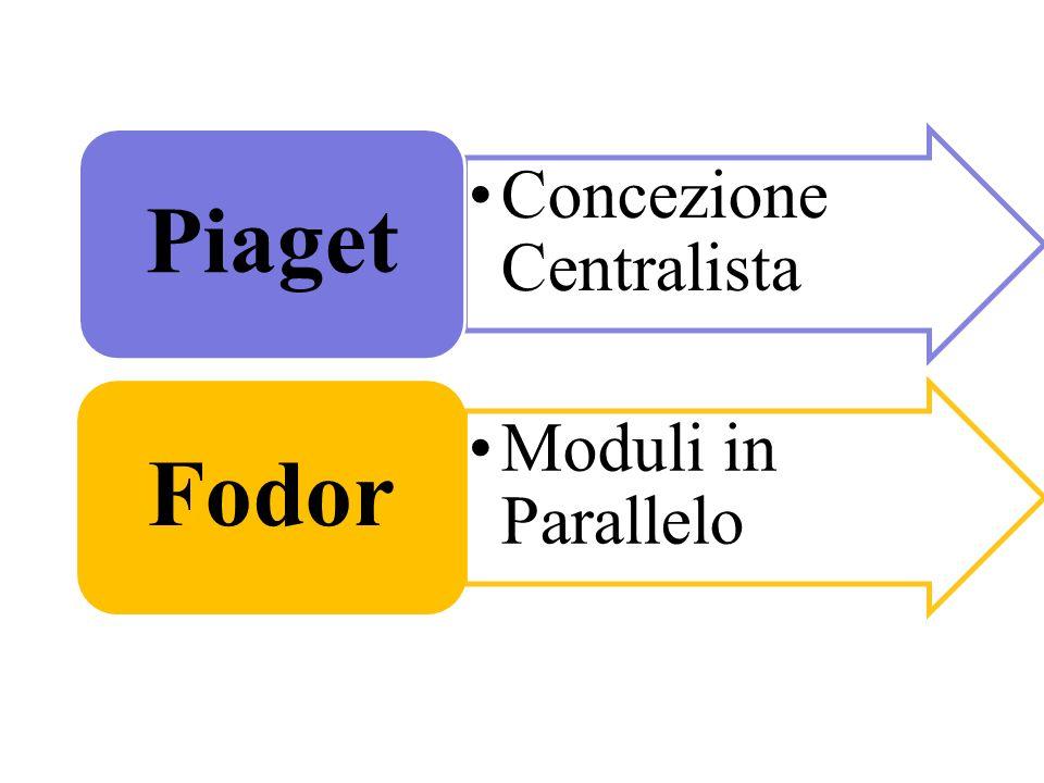 Concezione Centralista Piaget Moduli in Parallelo Fodor