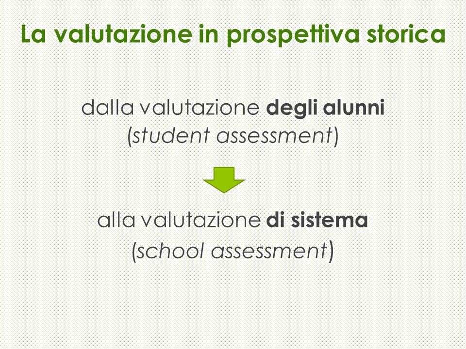 La valutazione in prospettiva storica dalla valutazione degli alunni (student assessment) alla valutazione di sistema (school assessment )