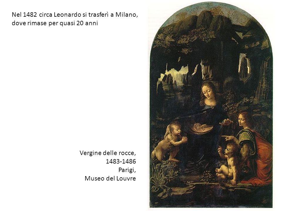 Vergine delle rocce, 1483-1486 Parigi, Museo del Louvre Nel 1482 circa Leonardo si trasferì a Milano, dove rimase per quasi 20 anni