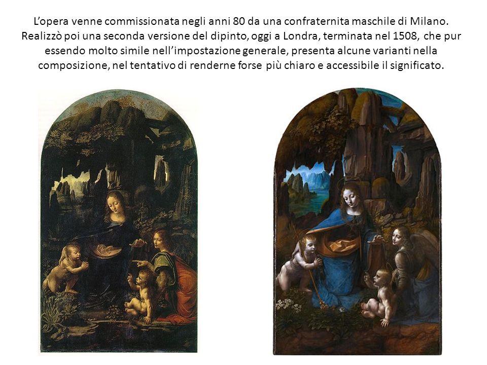 Lopera venne commissionata negli anni 80 da una confraternita maschile di Milano. Realizzò poi una seconda versione del dipinto, oggi a Londra, termin