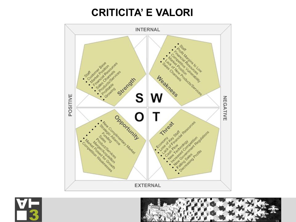 CRITICITA E VALORI