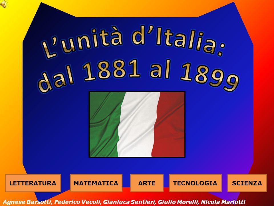 LETTERATURAMATEMATICAARTETECNOLOGIASCIENZA Agnese Barsotti, Federico Vecoli, Gianluca Sentieri, Giulio Morelli, Nicola Mariotti