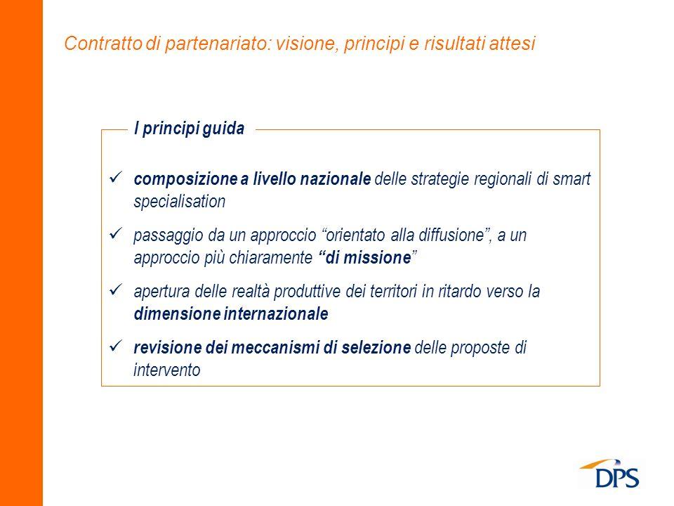 Contratto di partenariato: visione, principi e risultati attesi composizione a livello nazionale delle strategie regionali di smart specialisation pas