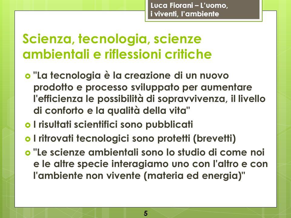 Luca Fiorani – Luomo, i viventi, lambiente Scienza, tecnologia, scienze ambientali e riflessioni critiche