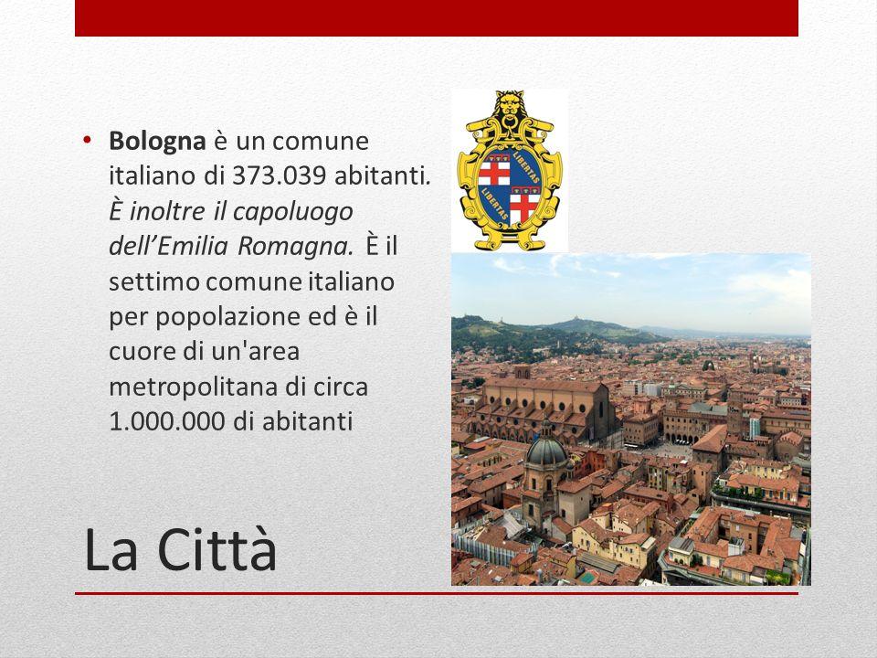 La Città Bologna è un comune italiano di 373.039 abitanti. È inoltre il capoluogo dellEmilia Romagna. È il settimo comune italiano per popolazione ed