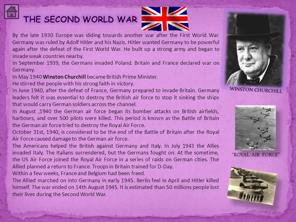 WINSTON CHURCHILL ROYAL AIR FORCE