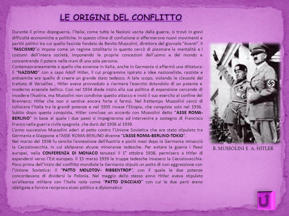 B. MUSSOLINI E A. HITLER