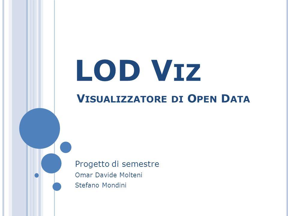 LOD V IZ Progetto di semestre Omar Davide Molteni Stefano Mondini V ISUALIZZATORE DI O PEN D ATA