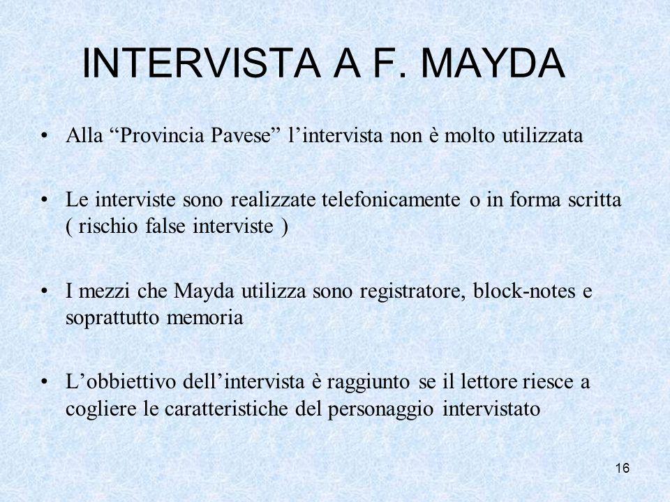16 INTERVISTA A F.