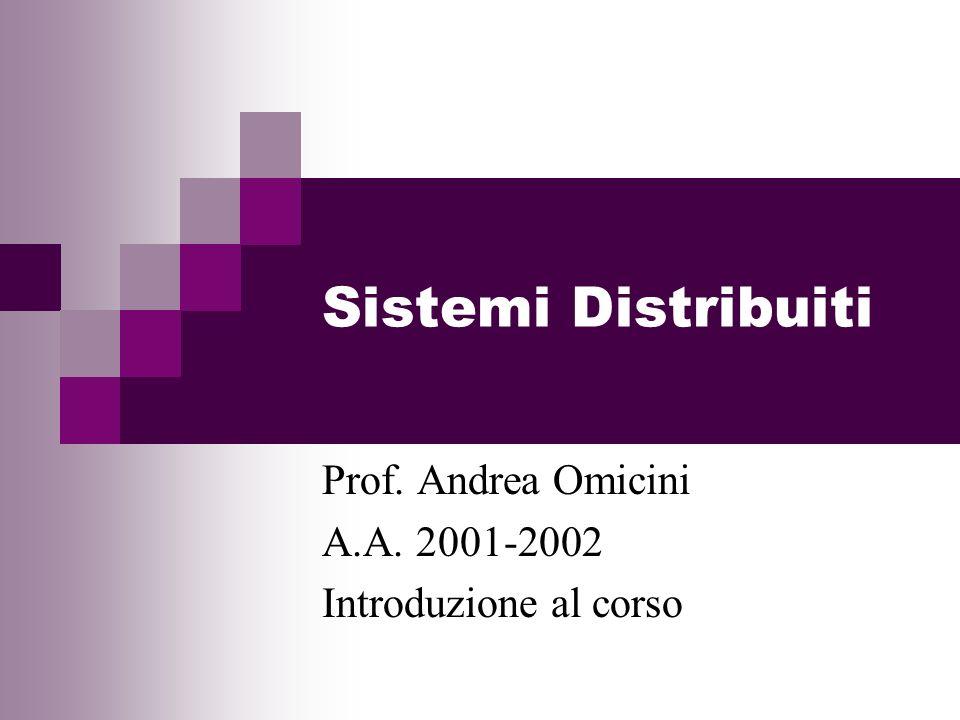 Sistemi Distribuiti Prof. Andrea Omicini A.A. 2001-2002 Introduzione al corso