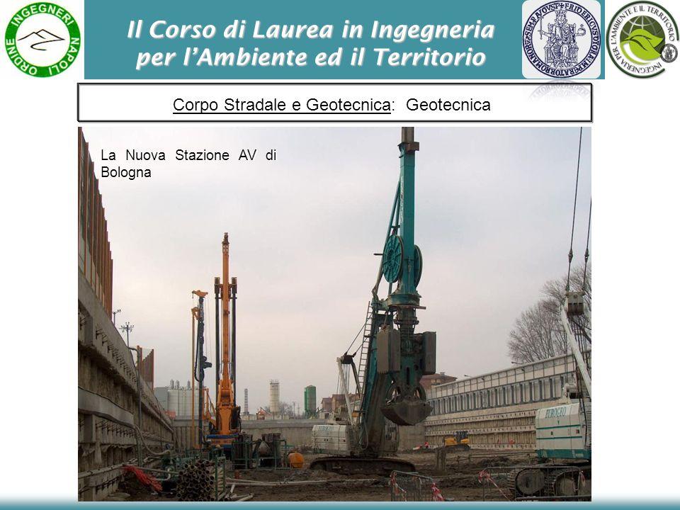 Il Corso di Laurea in Ingegneria per lAmbiente ed il Territorio Corpo Stradale e Geotecnica: Geotecnica La Nuova Stazione AV di Bologna